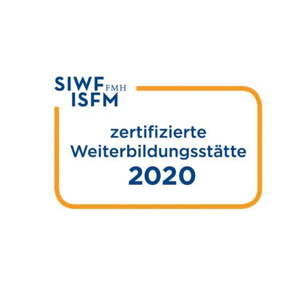 SIWF zertifizierte Weiterbildungsstätte 2020 Logo