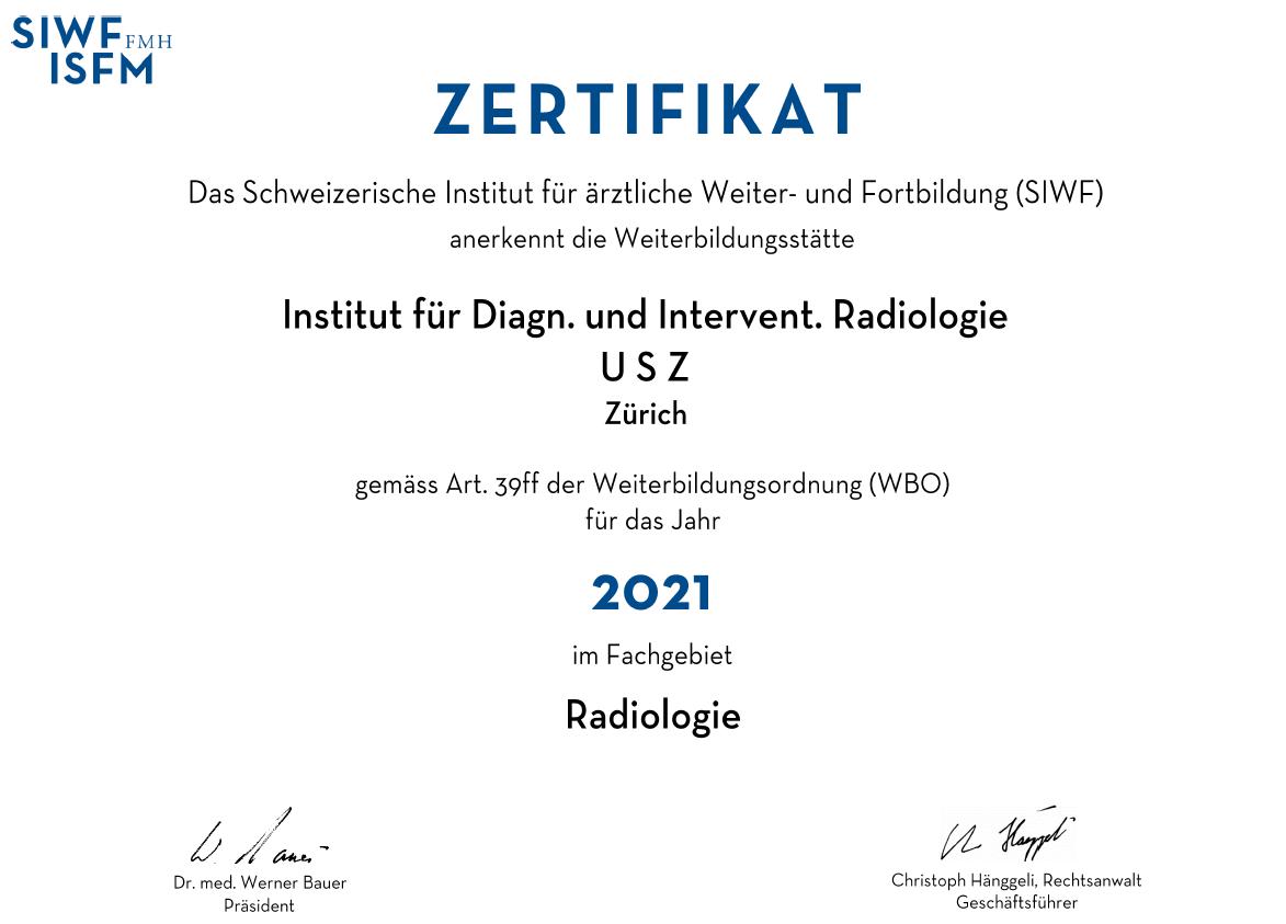 Zertifikat DIR