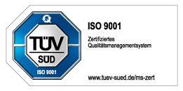 TÜV Gütesigel für den ISO 9001 Standard