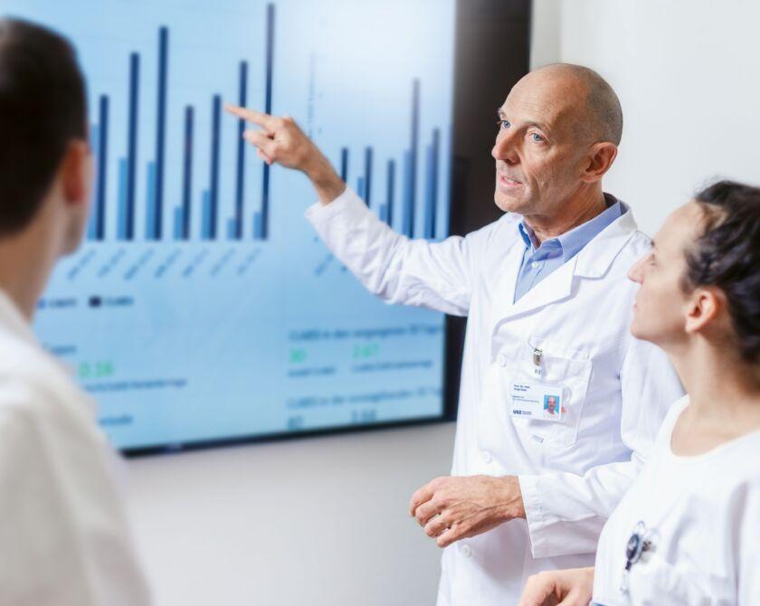 Besprechung einer Statistik unter Fachpersonal