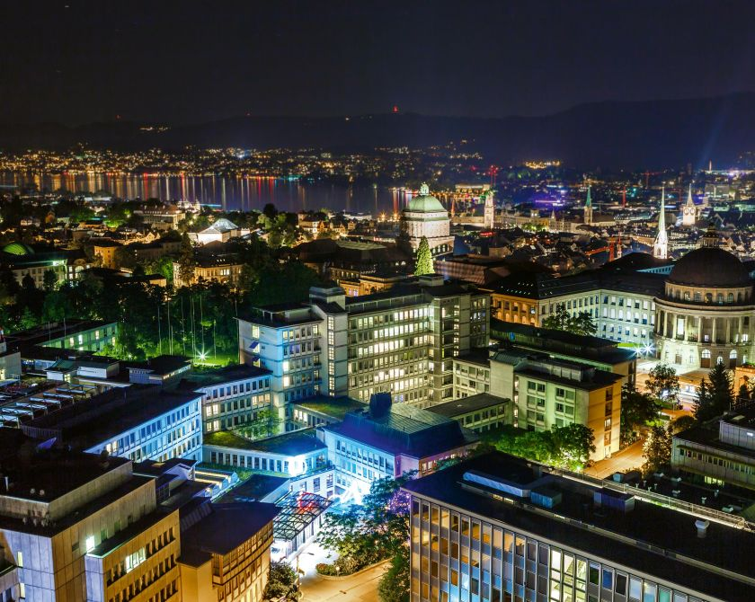 Panorama Zürich bei Nacht