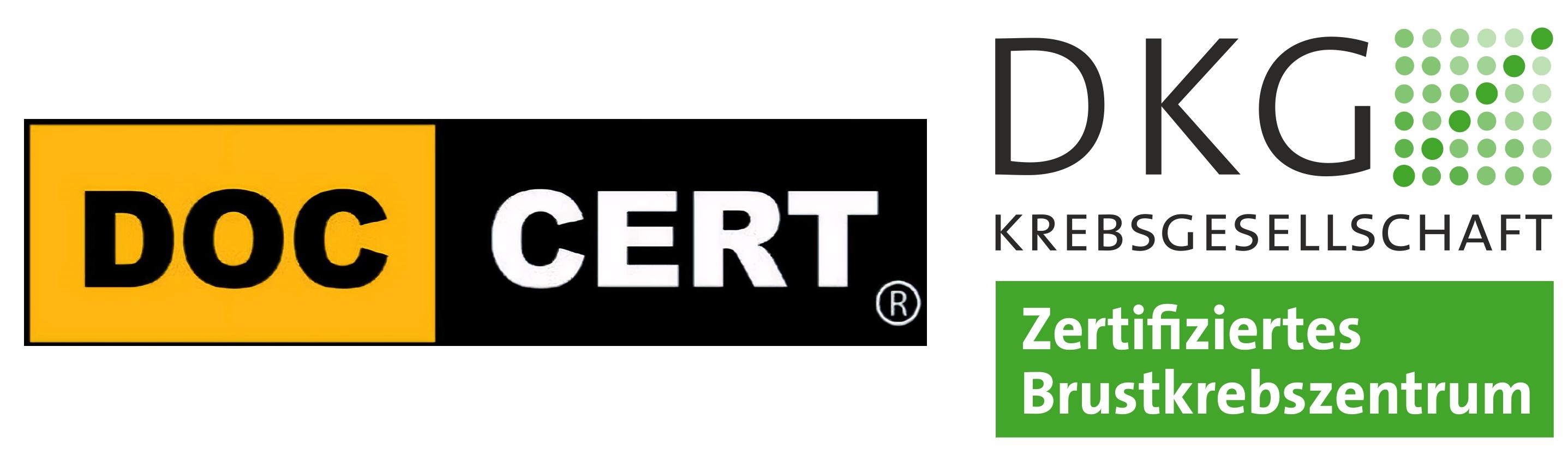 DOC CERT und DKG Logo