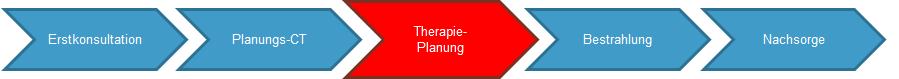 Grafik des Ablaufs - Schritt 3 Therapieplanung