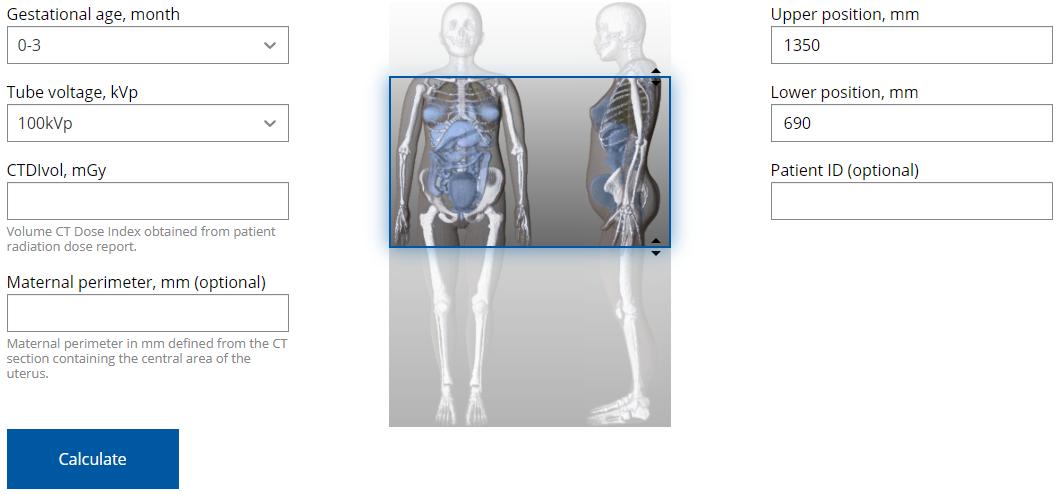 Strahlendosis Rechner Screenshot