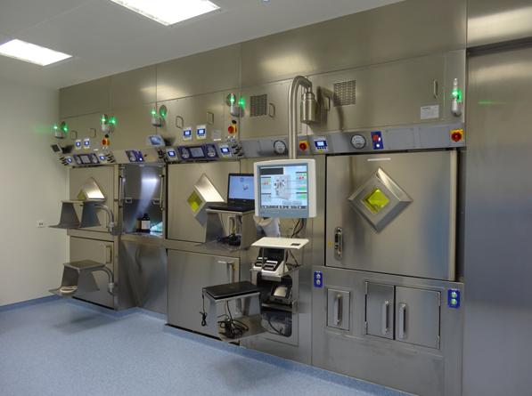 Raum der Radiopharmazie