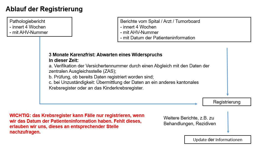 Ablauf Diagramm der Registrierung