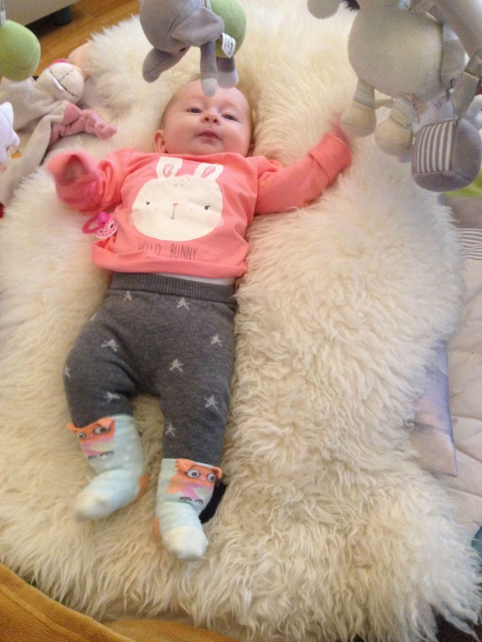 Entwicklung von Schlaf und Darmbakterien bei Babys