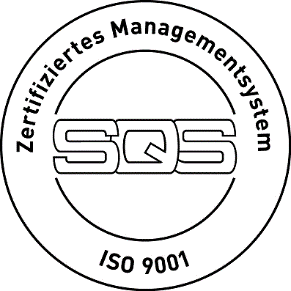 Zertifiziertes Managementsystem SQS ISO 9001 Logo