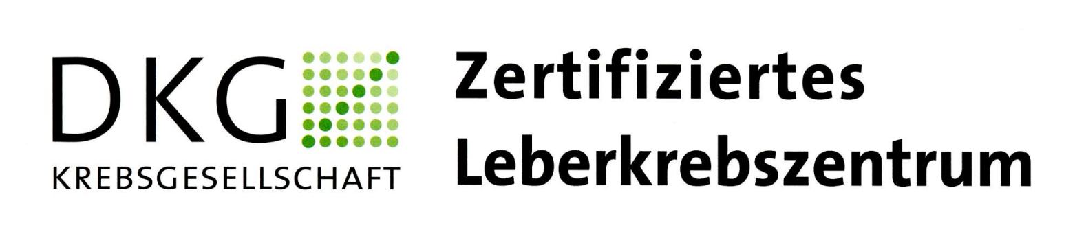 DKG Krebsgesellschaft Logo für ein zertifiziertes Leberkrebszentrum