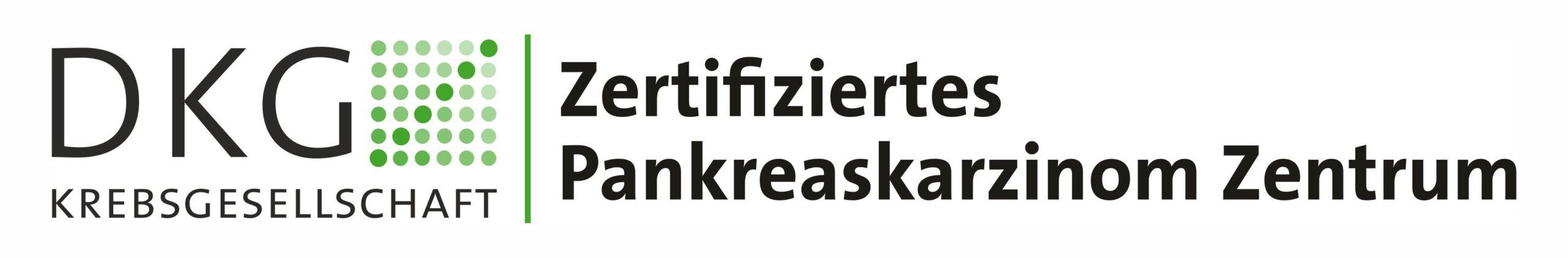 Offizielles Abzeichen der DKG Krebsgesellschaft: Zertifiziertes Pankreaskarzinom Zentrum