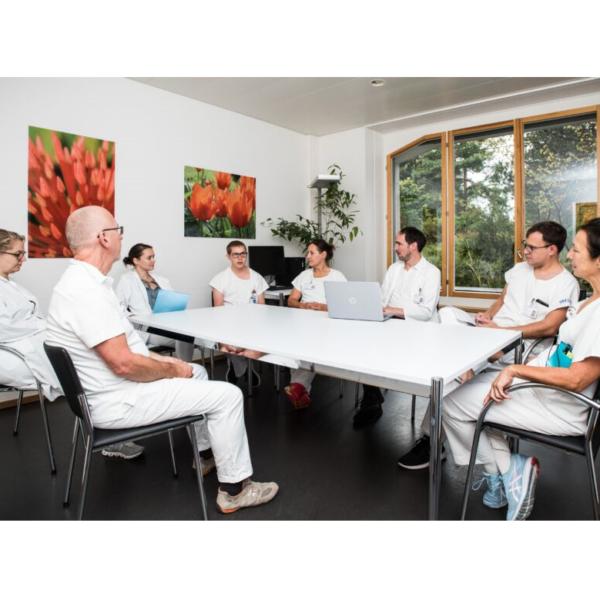 Das Team der Palliative Care an einer Sitzung