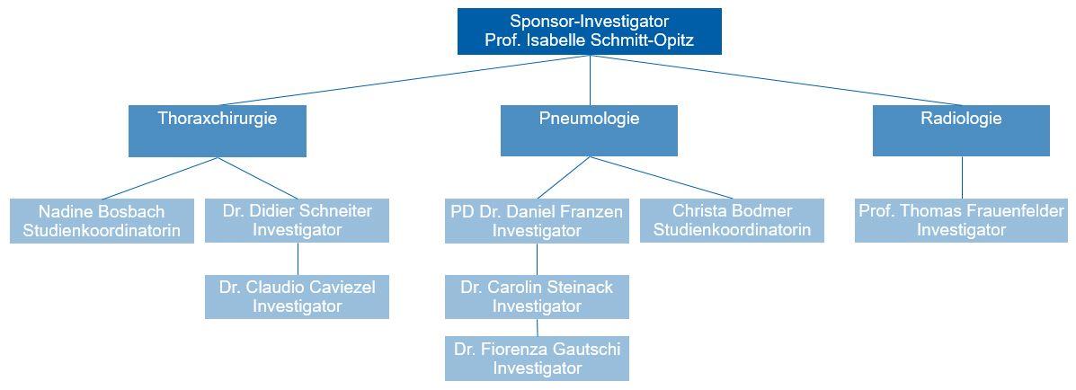 Organigramm der Studie