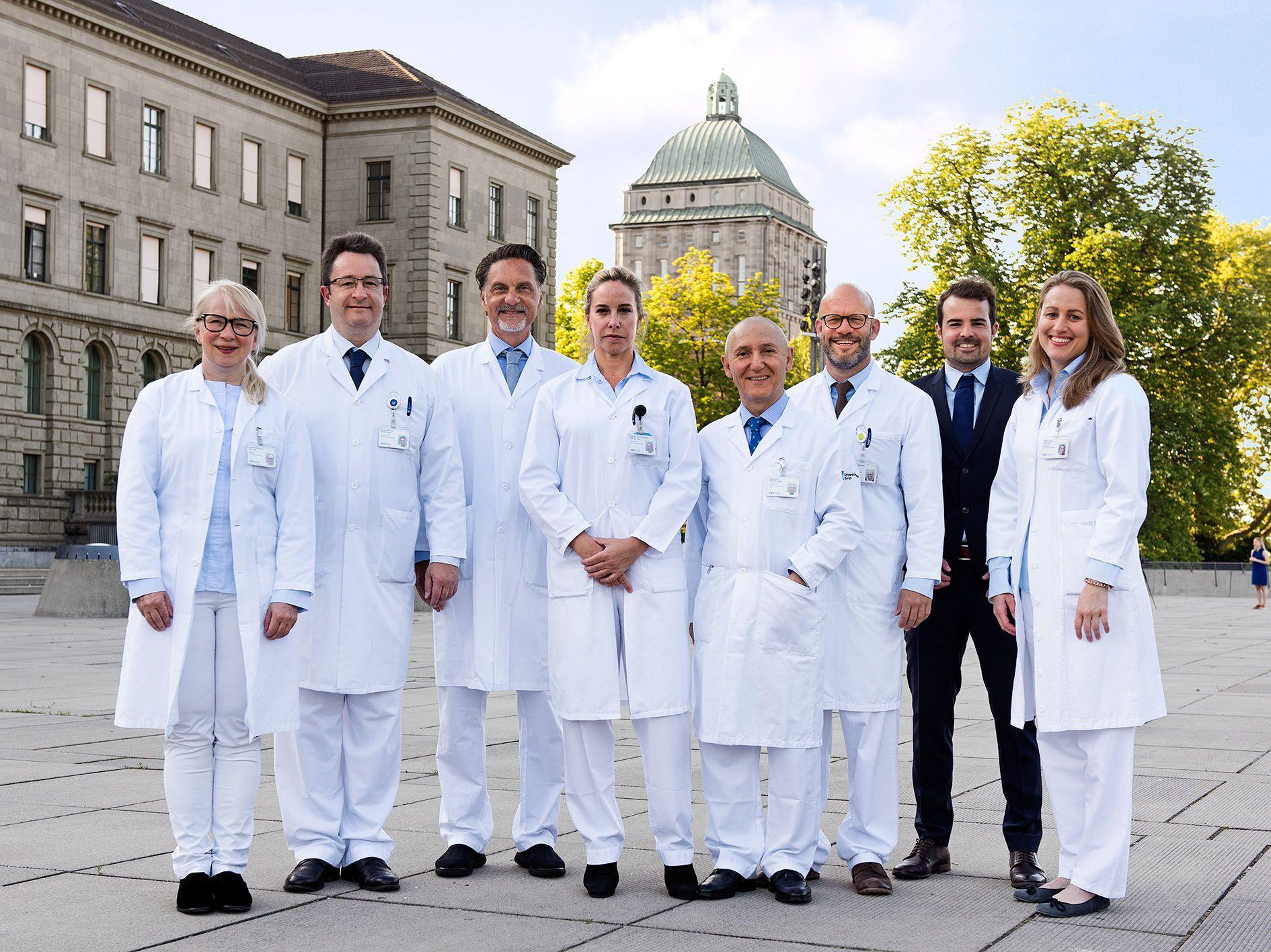 Kaderteam der Klinik für Thoraxchirurgie