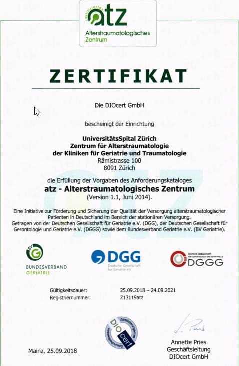 Zertifikat ATZ