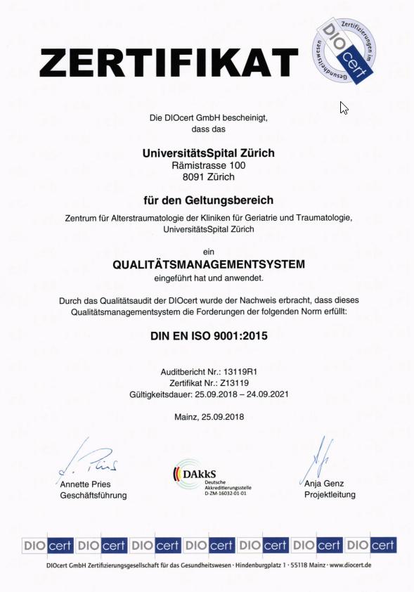 Zertifikat ATZ DIO CERT