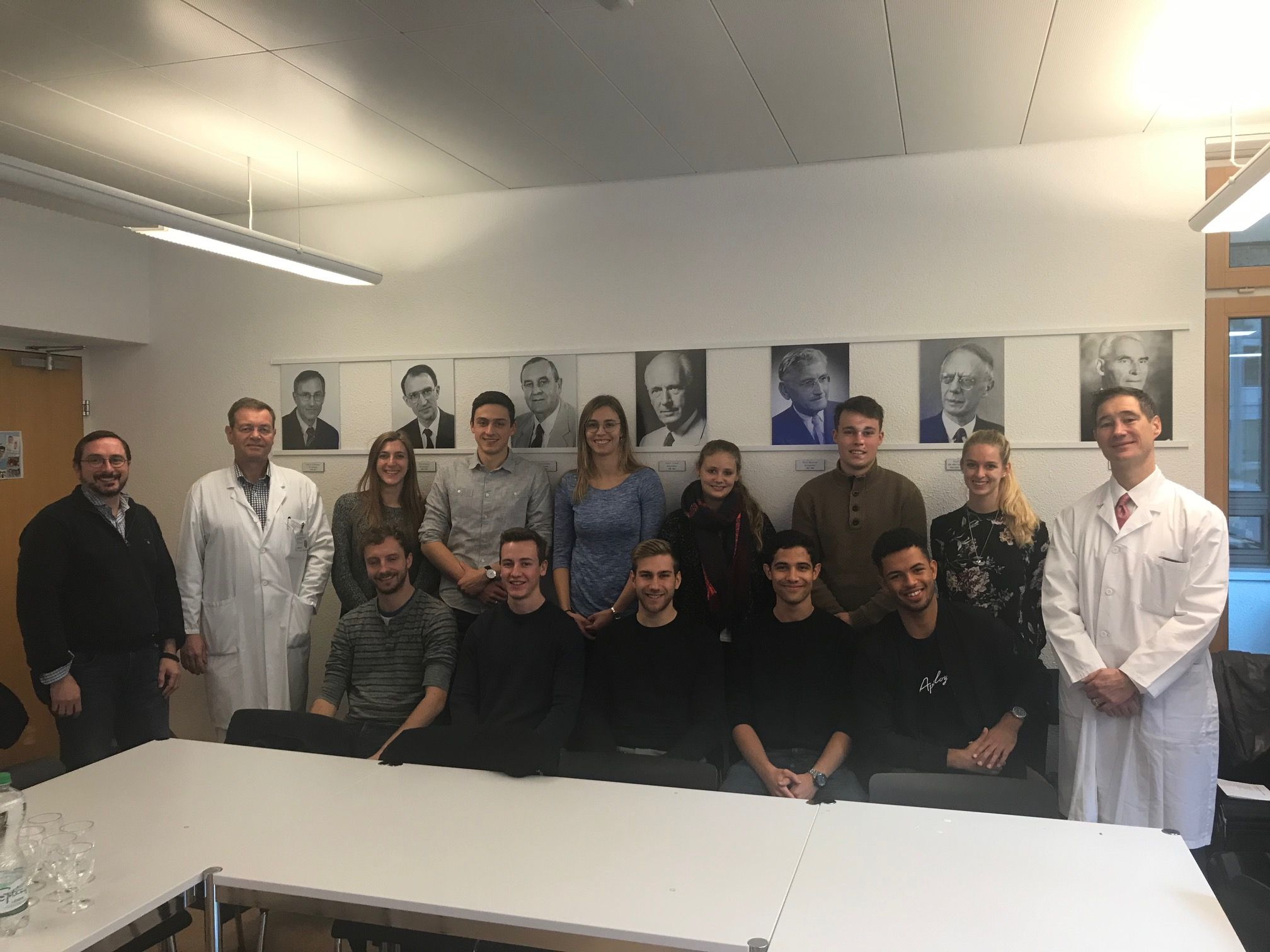 Masterstudententreffen am 10.12.2019 mit PD Dr. Paolo Cinelli, Prof. Hans-Christoph Pape, Prof. Boris Zelle
