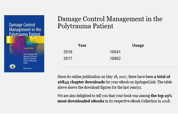 Buchcover Damage Control Management in the Polytrauma Patient