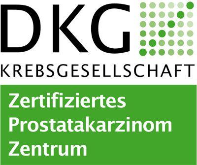DKG Krebsgesellschaft Logo für ein zertifiziertes Prostatakarzinomzentrum