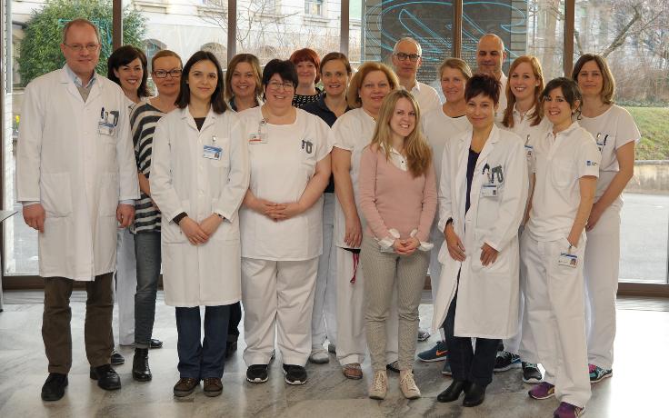 Gruppenbild Interdisziplinäres Team des Sklerodermie-Assessments der Klinik für Rheumatologie