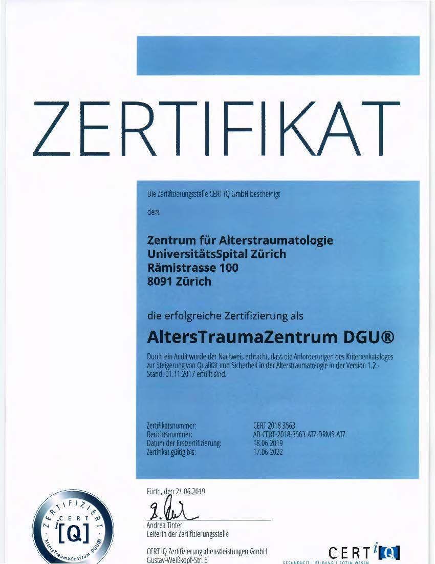 Zertifikat CERT AUC DGU