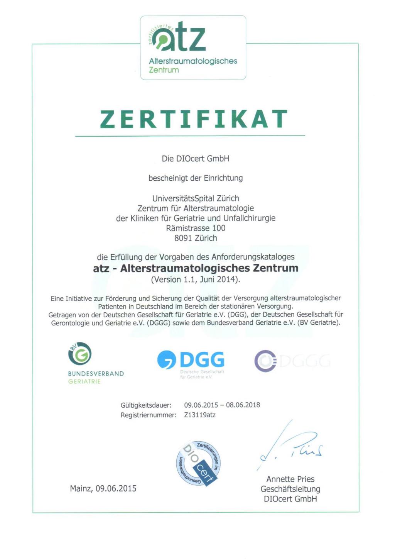 Atz Zertifikat