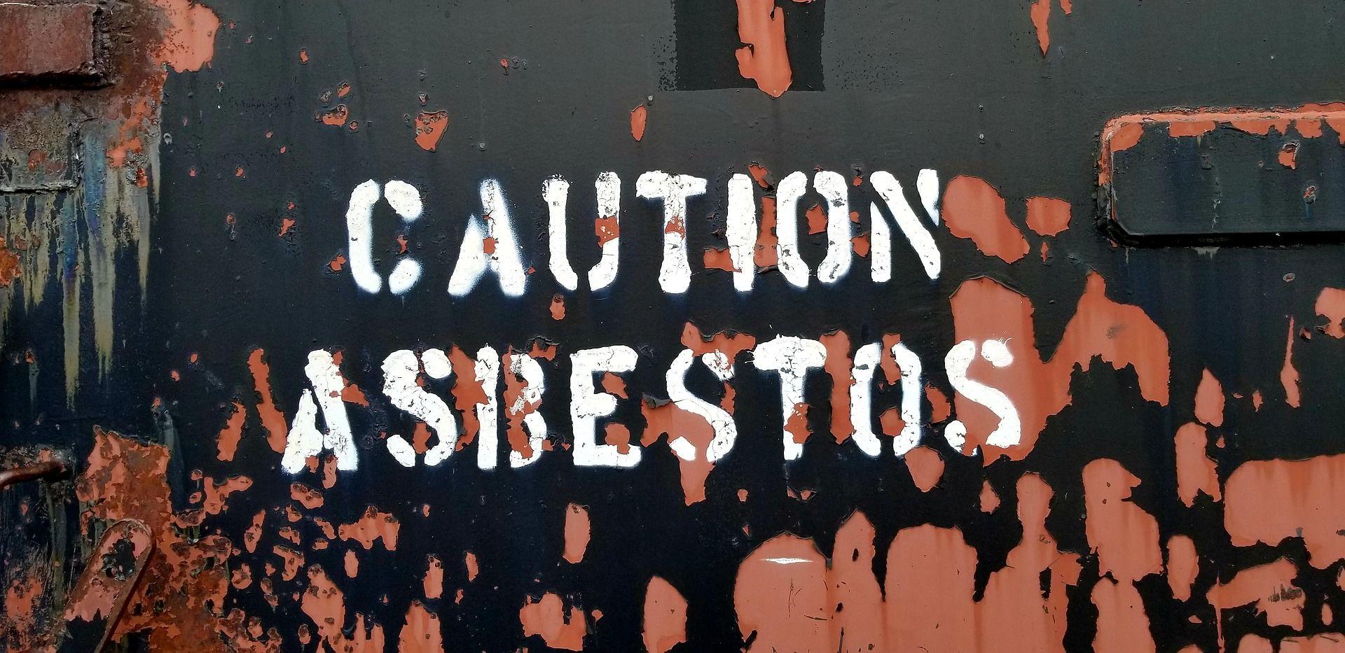 Achtung Asbest Schild