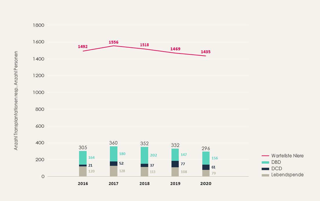 Statistik Leberstransplantation